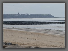 9.8 Mussel beds and Granville from St Martin de Brehal